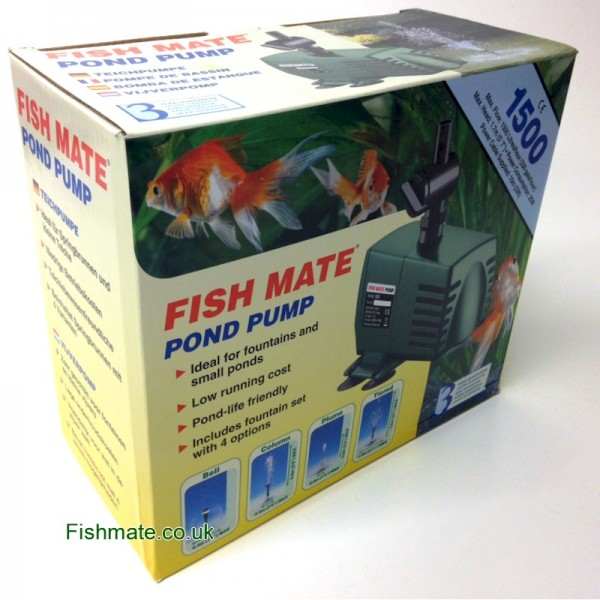 OUT OF STOCK UNTIL 2019 - Fish Mate Pond Pump: 1500