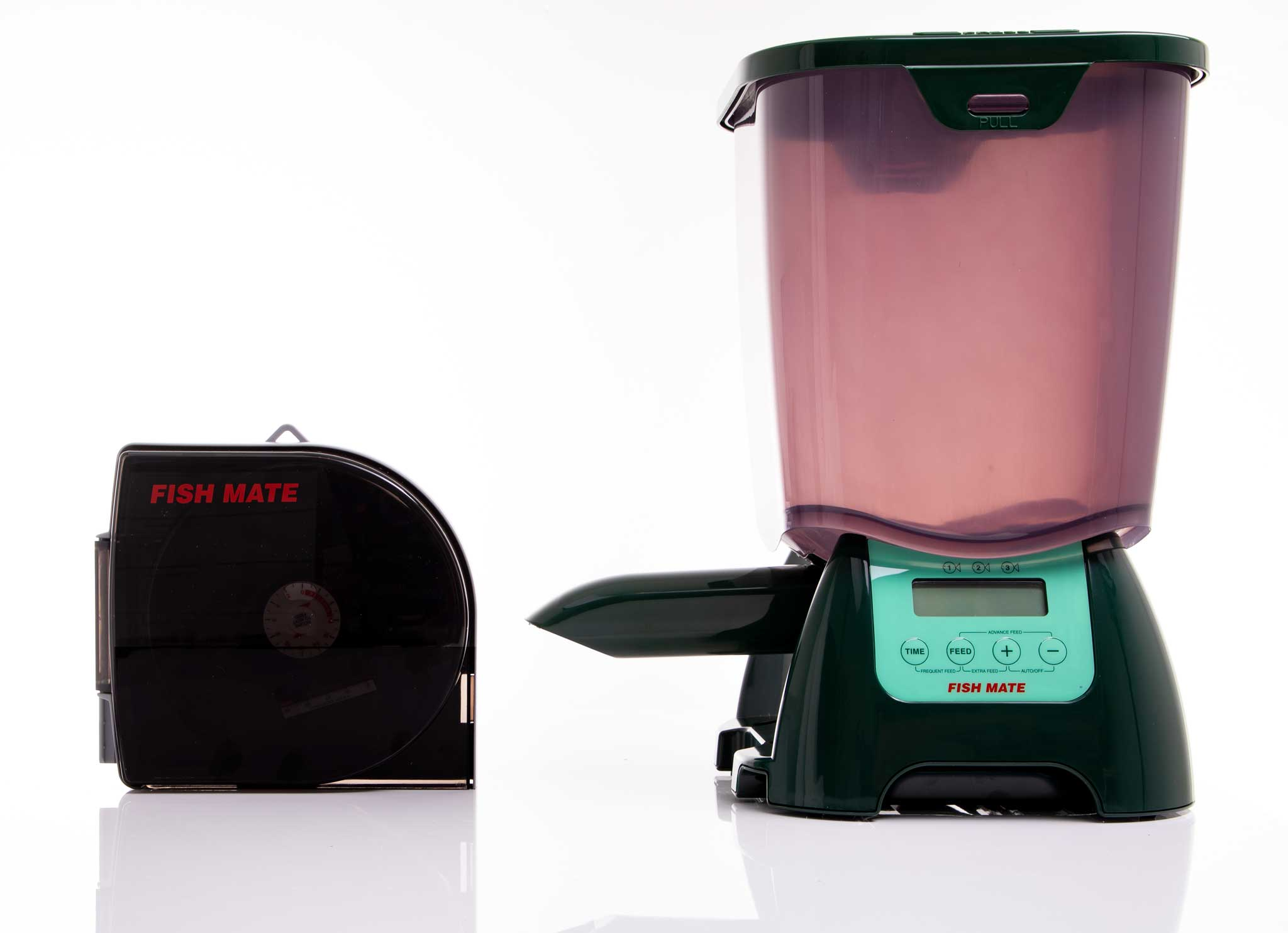 Pond feeders large P7000 and small P21 Fish Mate